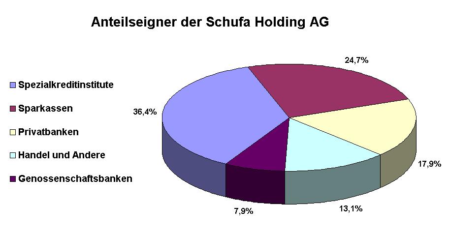 Abbildung: Anteilseigner der Schufa Holding AG (Stand 2008)